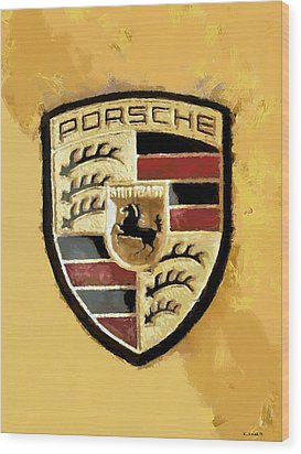 Wood Print featuring the digital art Porsche Heritage by Kai Saarto