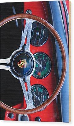 Porsche Iphone Case 1 Wood Print by Jill Reger