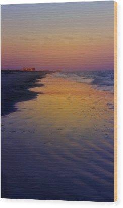 Wood Print featuring the photograph Port Aransas Sunset by Ellen Heaverlo