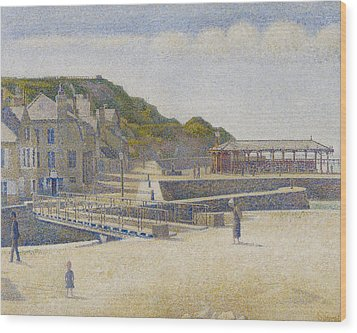 Port En Bessin Wood Print by Georges Pierre Seurat