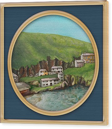 Port Isaac Wood Print