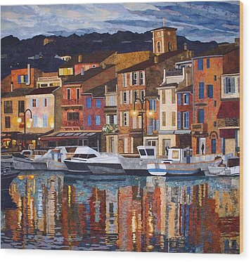 Port Of Cassis Wood Print by Lenore Crawford