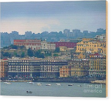 Port Of Napoli Wood Print