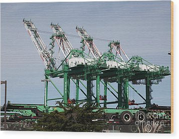 Port Of Oakland 5d22265 Wood Print by Wingsdomain Art and Photography