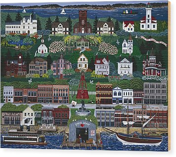 Wood Print featuring the painting Port Townsend by Jennifer Lake