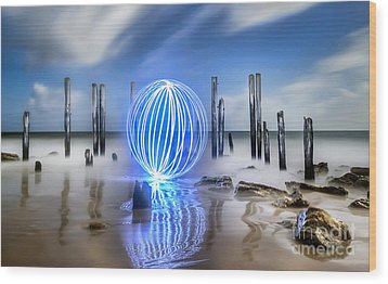 Port Willunga Orb Wood Print by Shannon Rogers