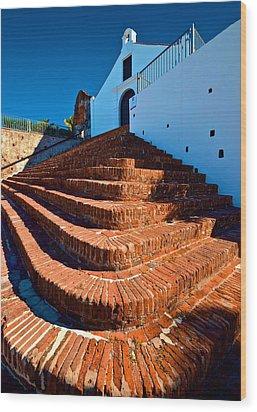 Porta Coeli Steps Wood Print by Ricardo J Ruiz de Porras