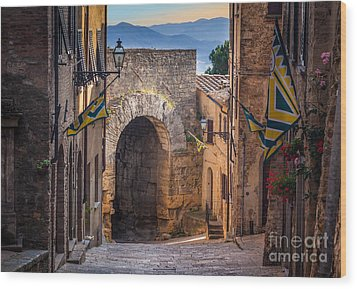 Porta Dell'arco Wood Print by Inge Johnsson