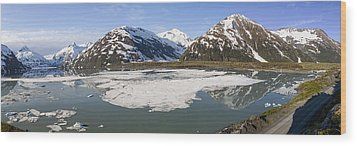 Portage Lake Panorama Wood Print by Tim Grams
