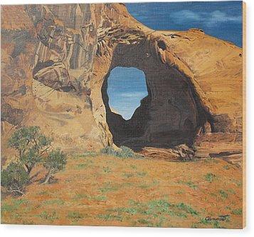 Portal At Window Rock  Wood Print