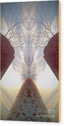 Wood Print featuring the photograph Portal Of The Silos by Karen Newell