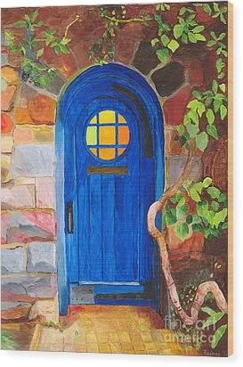 Wood Print featuring the painting Portal by Rodney Campbell