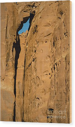 Portal Through Stone Wood Print by Jeff Kolker