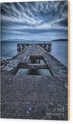 Portencross Pier  Wood Print by John Farnan