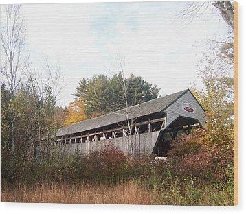 Porter Covered Bridge Wood Print by Catherine Gagne