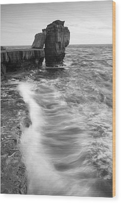 Portland Bill Seascape Wood Print