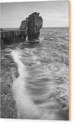 Portland Bill Seascape Wood Print by Ian Middleton