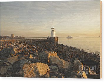 Portland Breakwater Light - Portland Maine Wood Print by Erin Paul Donovan