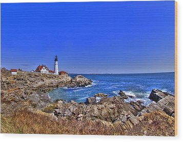 Portland Head Light 4 Wood Print by Joann Vitali