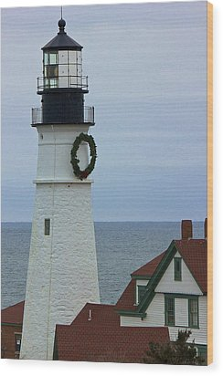 Wood Print featuring the photograph Portland Head Lighthouse by Amazing Jules