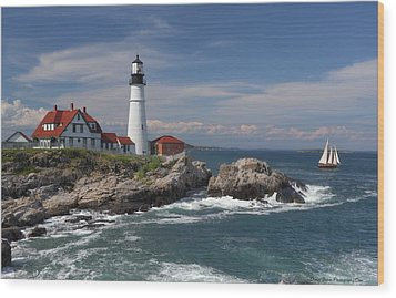 Portland Head Lighthouse Wood Print
