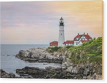 Wood Print featuring the photograph Portland Head Lighthouse  by Trace Kittrell