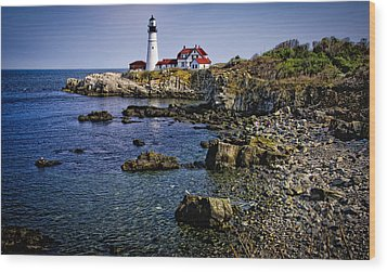 Portland Headlight 36 Wood Print