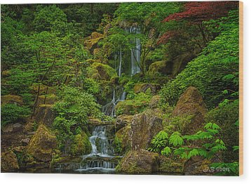 Wood Print featuring the photograph Portland Japanese Gardens by Jacqui Boonstra
