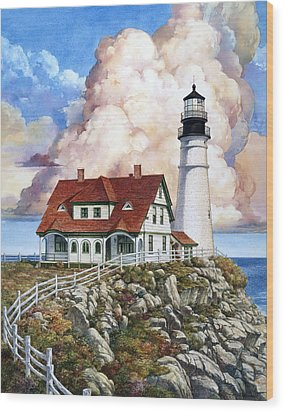 Portland Light Wood Print
