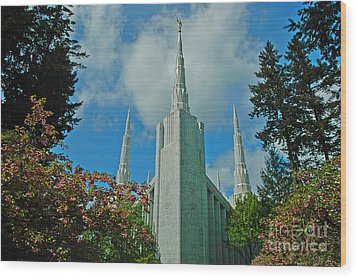 Portland Oregon Lds Temple Wood Print