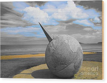Portmanuck Sphere Ireland Wood Print by Jo Collins