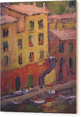 Portofino Afternoon Wood Print by R W Goetting