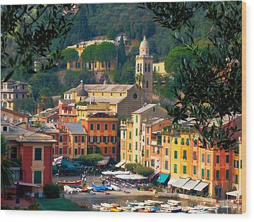Portofino Wood Print by Carl Jackson