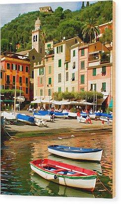 Portofino Wood Print by Cliff Wassmann