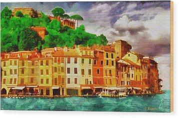 Portofino I Wood Print by George Rossidis