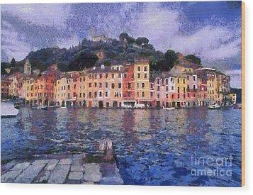 Portofino In Italy Wood Print by George Atsametakis