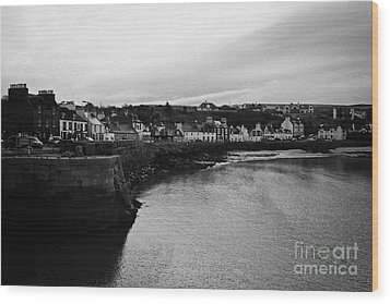 Portpatrick Village And Breakwater Scotland Uk Wood Print by Joe Fox