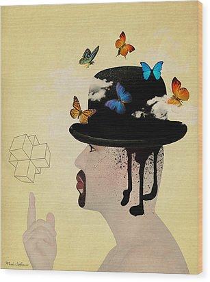 Portrait Hat Wood Print by Mark Ashkenazi