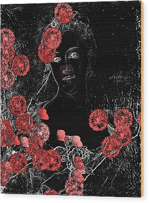 Portrait In Black - S0201b Wood Print by Variance Collections