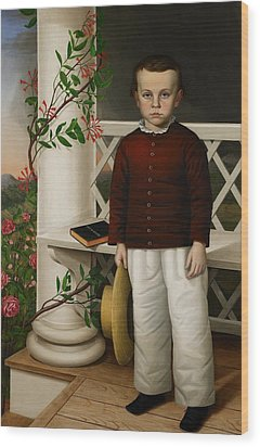Portrait Of A Boy Wood Print by James B Read