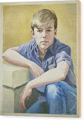 Portrait Of A Boy Wood Print
