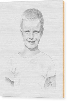 Portrait Of A Boy Wood Print
