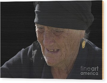 Portrait Of A Fishermans Wife Wood Print by Heiko Koehrer-Wagner