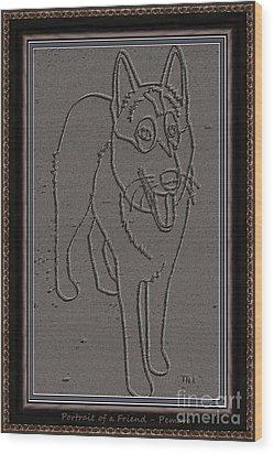 Portrait Of A Friend Poaf0000002 Wood Print by Pemaro