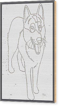 Portrait Of A Friend Poaf000001 Wood Print by Pemaro