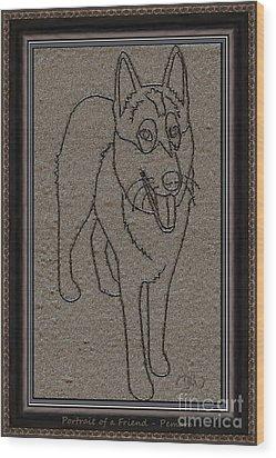 Portrait Of A Friend Poaf02 Wood Print by Pemaro