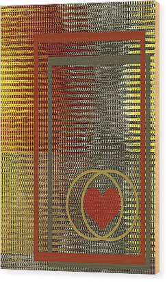Portrait Of A Heart Wood Print by Ben and Raisa Gertsberg