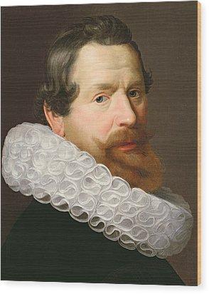 Portrait Of A Man Wearing A Ruff Wood Print by Dutch School