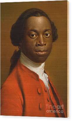 Portrait Of An African Wood Print by Allan Ramsay