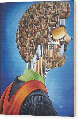 Portrait Of An Artist - Jim Meaders 1984 Wood Print